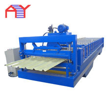 Competitive price colored glazed steel roof cold roll forming machine