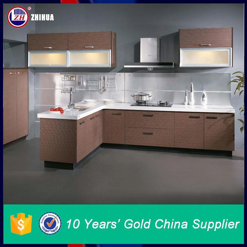 ZHUV High Quality Knock Down Mdf Kitchen Cabinet