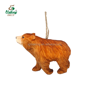 lovely hand carved carving wood animals ornament for home decor