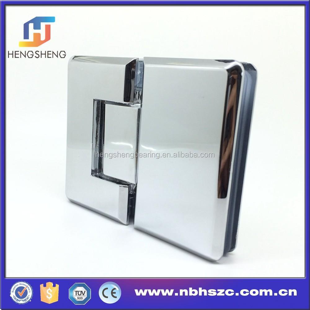 Pair Glass Shower Door Hinge Zamak Polished Wall To Glass Hinge