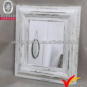 Wall Shabby Chic Wood Distressed White Framed Mirror - Buy Wood ...