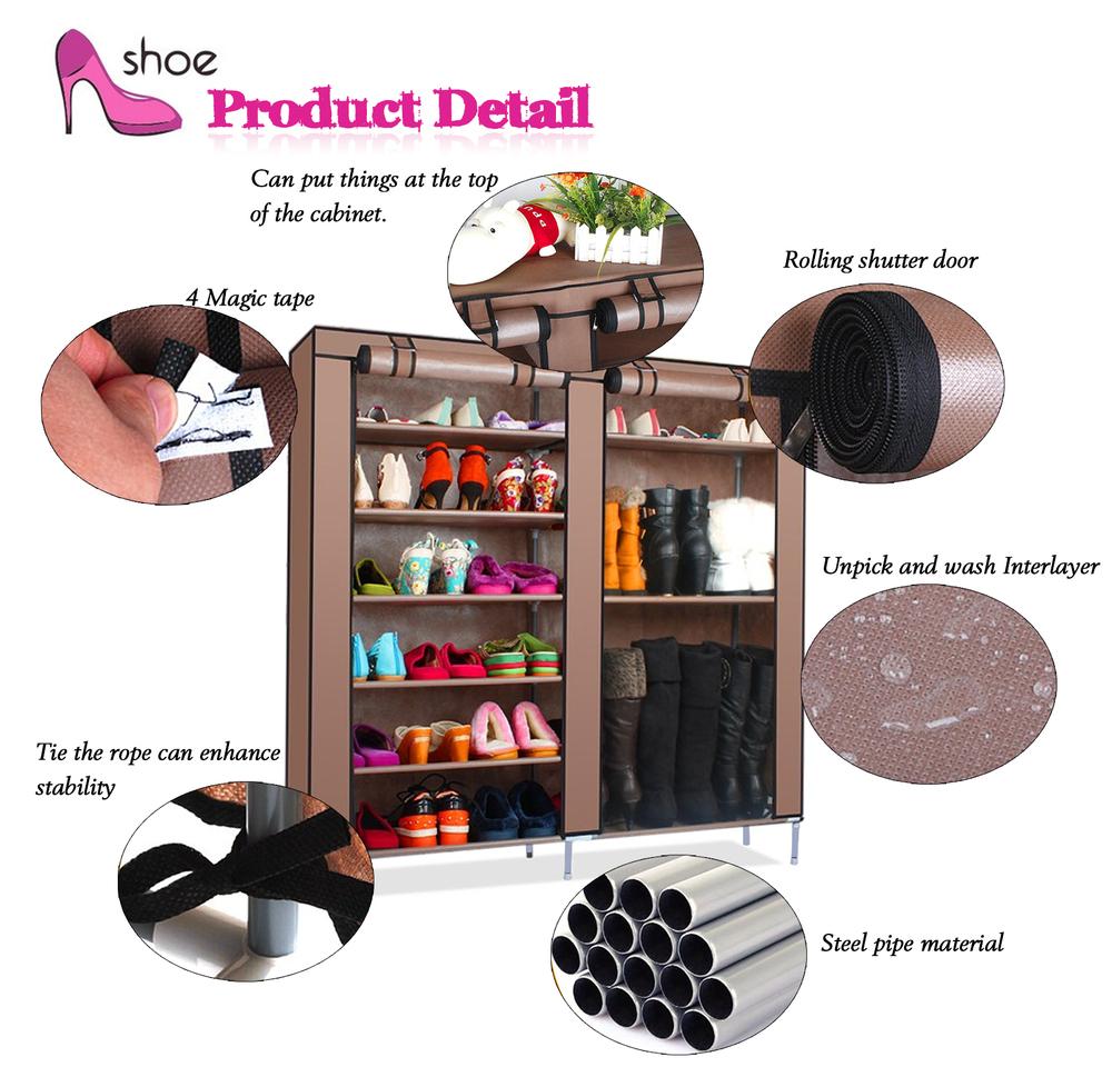 diy shoe rack waterproof shoe cabinet folding fabric shoe storage