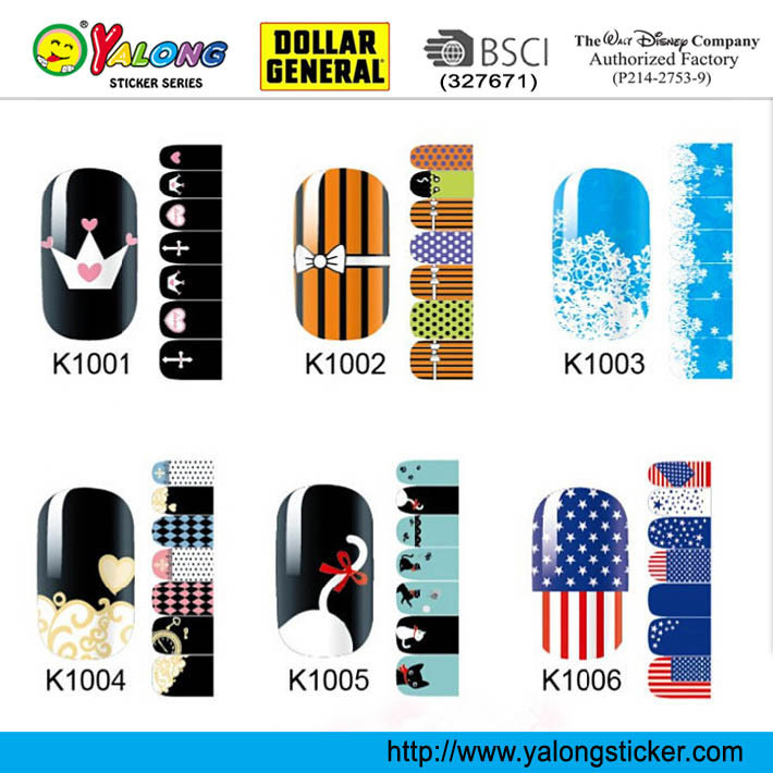 Wholesale Nail Supplies Stickers Full Vinyl 3D Nail Stickers