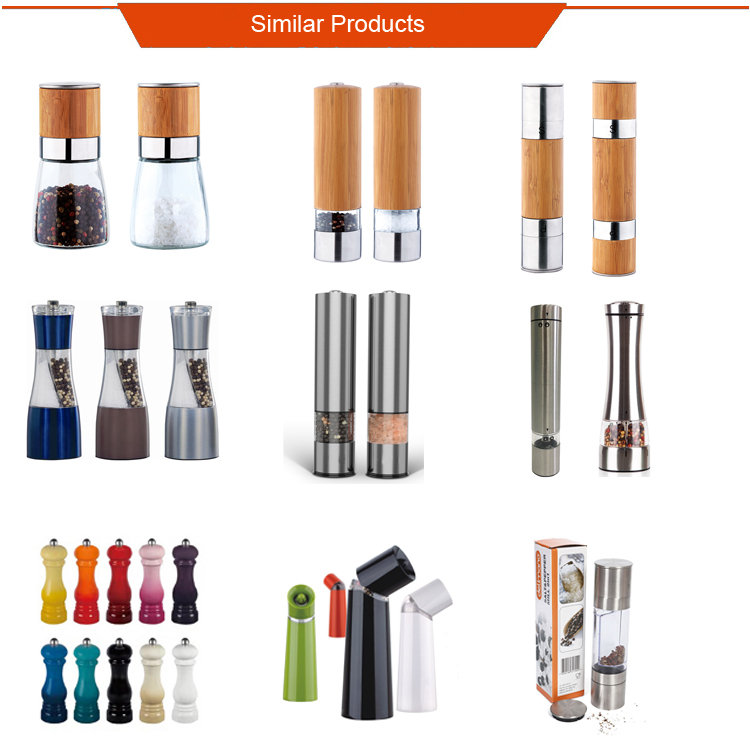 Hot selling electric stainless steel salt and pepper mill