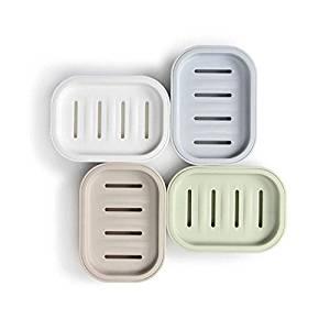 Pacii Soap Box Dish,Soap Dish,Soap Holder,Soap Saver,Soap Container Plastic Soap Dish Traveling Soap Box Creative Portable Mini Soap Box with lid (White)