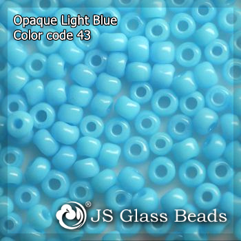 High Quality Fashion JS Glass Beads - 43# Opague Aqua Blue Rocailles Beads For Garment & Jewelry