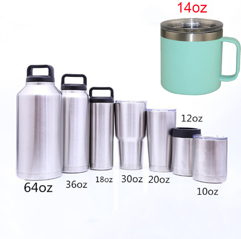 Regalo de Cumpleaños de doble pared aislado al vacío 20oz vaso de acero inoxidable taza de viaje con Tritan tornillo tapa y paja y cleaner Set