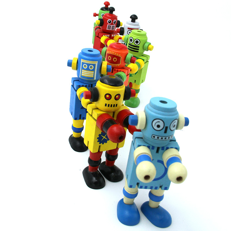 Fq Brand Educational Diy Wholesale Kids Wooden Robot Toy ...