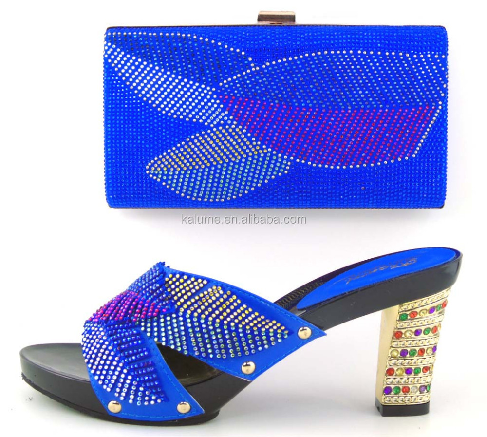Bags Blue Women To High With Party Color 42 Match Shoes Italian Wholesale Stones And TH16 Shoes Heels Royal xqHCwppg