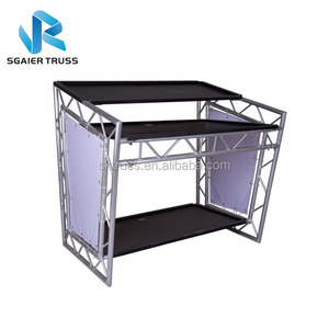 Dj Booth Table Aluminum Led Folding Booth Table On Sale