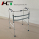 Hospital Equipment Old People Lightweight Standing Frame Aluminum Folding Walking Aid / Walker Frame For Disabled