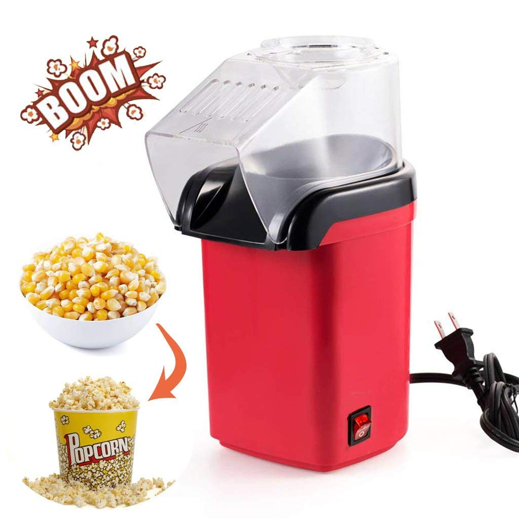 Hot Air Popcorn Maker Popcorn Machine [Color: Red]
