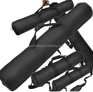 Custom wholesale portable black durable polyester tripod bag