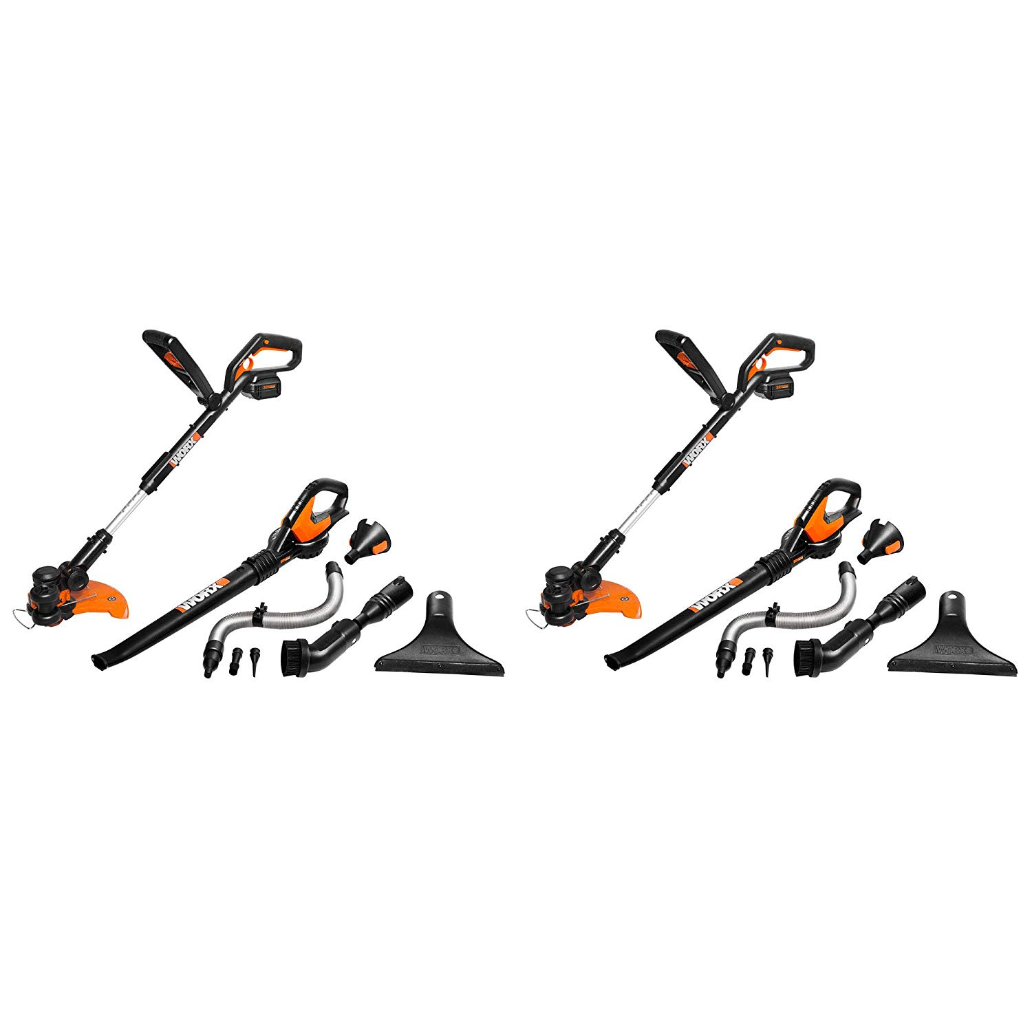 Worx Air 32V Grass Trimmer & Air Blower Cordless Electric Combo Kit (2 Pack)