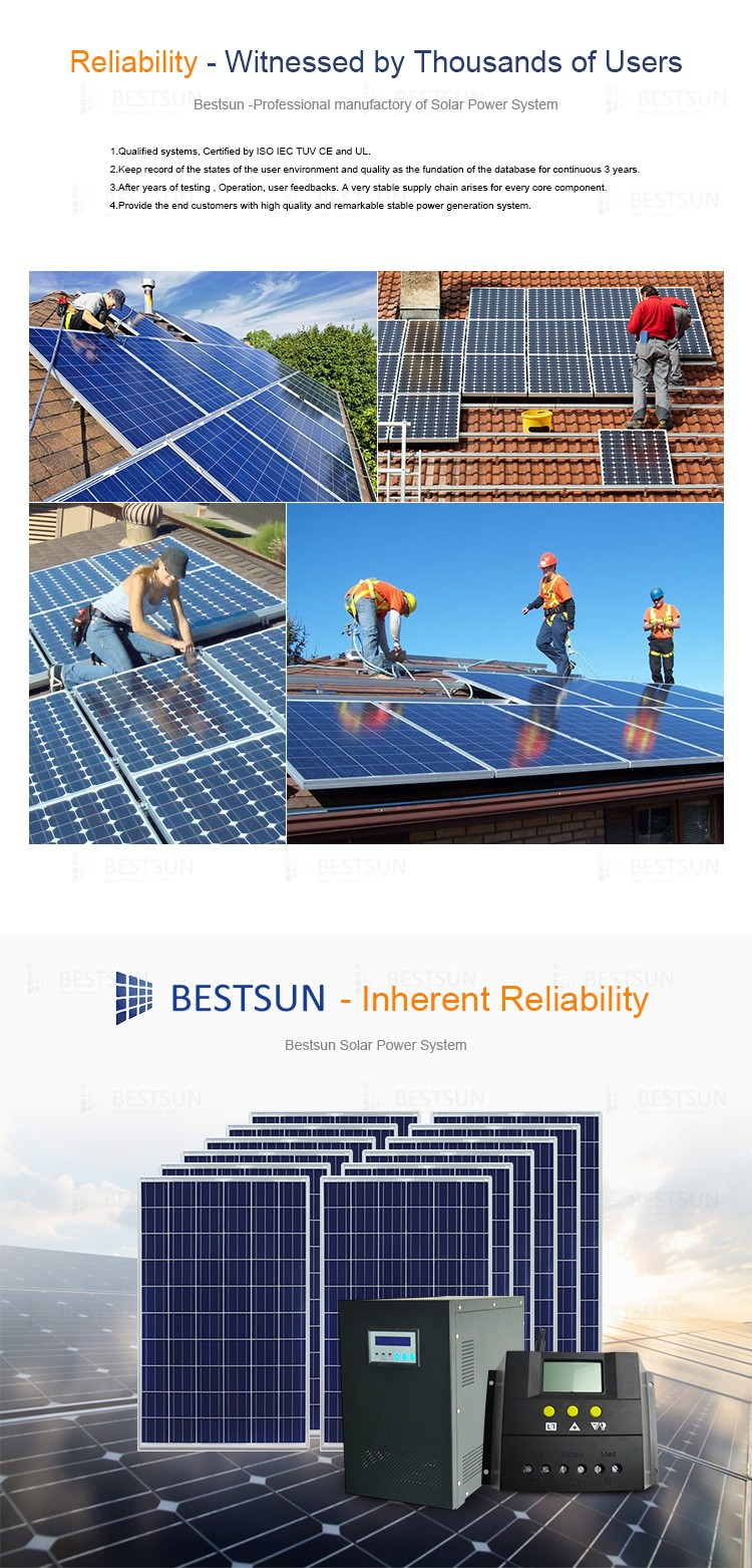 5000w Solar Panel Kits Poly 250w Solar Power Supply For