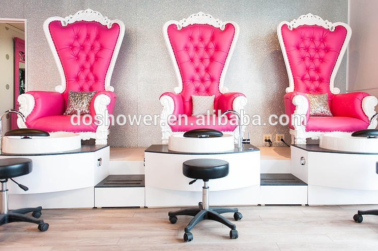 Used Pedicure Chairs For Sale >> Pinky And White Queen Chair Used For Manicure Spa Shop ...