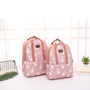 Floral printed waterproof backpack bag travel canvas backpack for women
