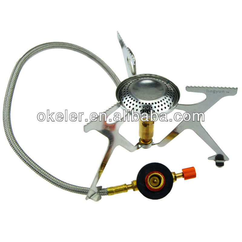 Outdoor Camping Portable Mini Gas Stove Picnic Butane Burner Cooker with Hose