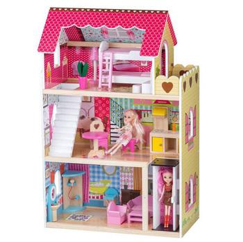 1 12 Popular Wooden Diy Dolls Doll House Miniature Dollhouse Kid