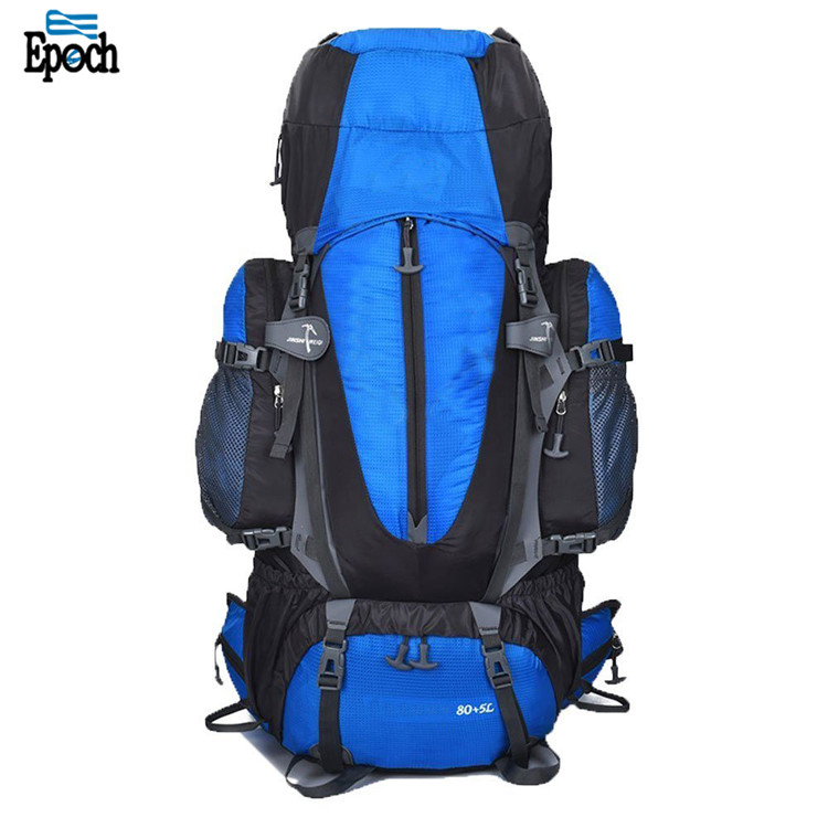 85L Waterproof Ripstop Blue Climbing Men Hiking Backpack With Laptop Compartment