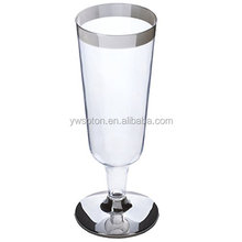 Heavyweight Plastic Champagne Flute Diposable Clear, Multicolor Champagne Glasses