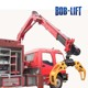 Truck Mounted Hydraulic Timber Grapple Mini Crane