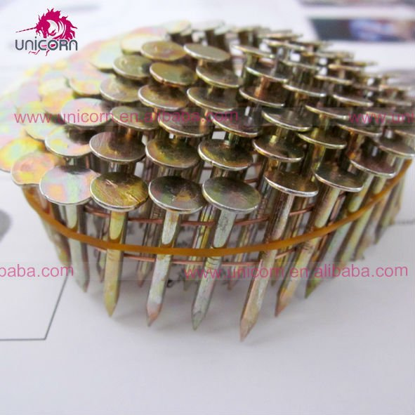 15 degree 32mm Coil, galvanized roofing nails