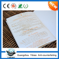 Hot sale Non-toxic And Eco-Friendly Custom Printing For Passport/Bank Passbook/Visa/Certificate in Yibiao Brand,passport printin