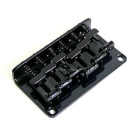 Donlis Musical Instrument Bass Guitar Bridge String Through 6 Steel Saddle Guitar Bridge Black Color