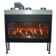 Wholesale flame adjustable gas fireplace for indoor decoration with remote control
