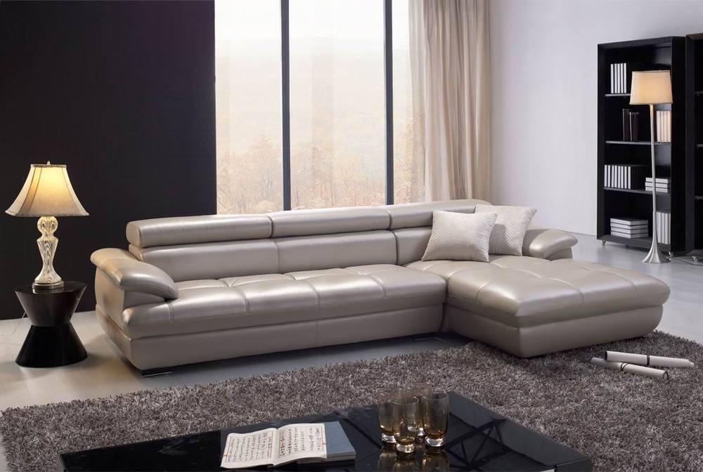 Italy Latest High End Grey Reclining Leather Sofa/double Divan Sofa