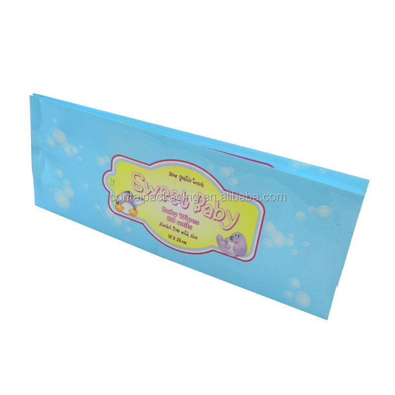 Top grade baby tissue wet wipes custom logo napkin packing bags