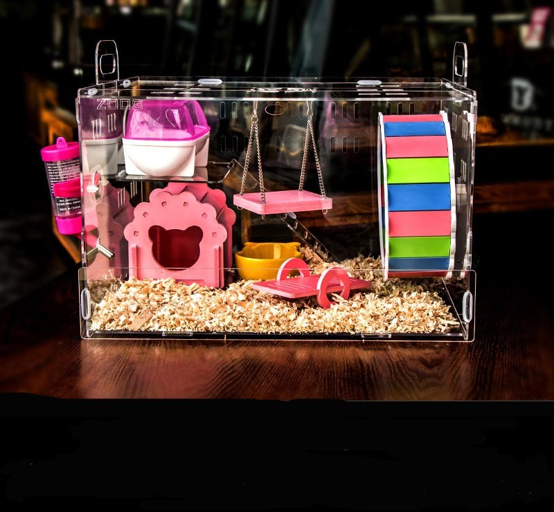 Manufacture Transparent Acrylic Hamster Cage