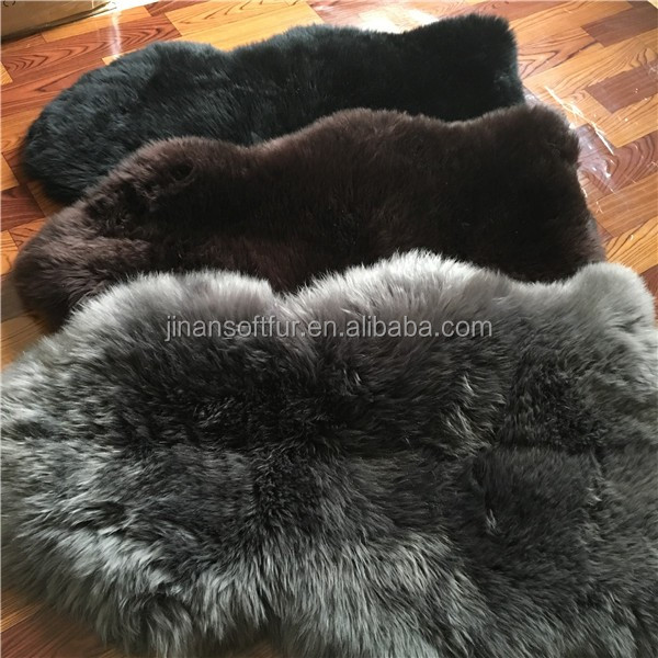 Big Colored Sheepskin Wool Area Rug For Bed Home Buy