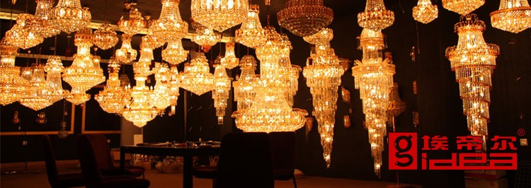 Guzhen Lighting Crystal Glass Decorate Antique Hotel Wall Lamps