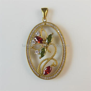 Unique Jewelry New Design Beautiful Saudi Gold Couple Necklace