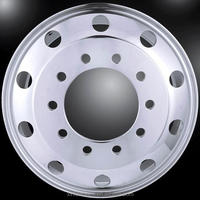 Forged aluminum wheel 22.5x9.00 for heavy trucks XINFA WHEELS