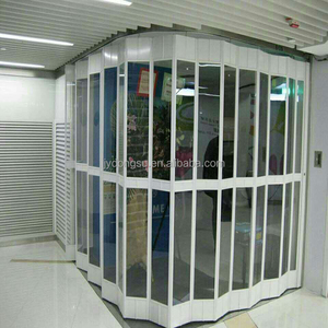 Folding doors sliding door type plastic roller shutter door