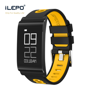 Blood oxygen watch smart watch double color strap wristband Waterproof IP67 Heart Rate Monitoring BT 4.0 smart watch