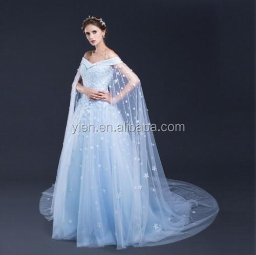 e0916a826e Fashion Women Blue Princess Dress Super Long Sleeves Blue Princess Dress