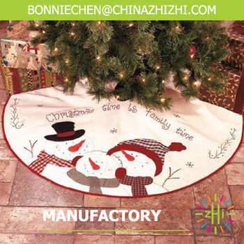 New Design Snowman Christmas Tree Skirt For Decoration