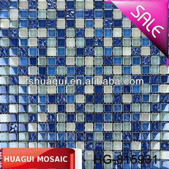 Stile Bellissimo Mare Blu Mix Bianco Cristallo Mattonelle Di Mosaico ...