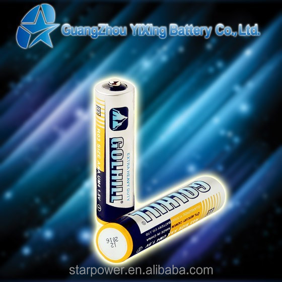 Carbon zinc UM4 r03 1.5v aaa primary battery