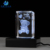 3D Laser Engraving bear souvenir crystal cube glass paperweight with light base