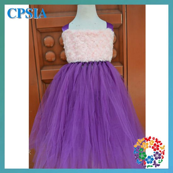 Girls Newcome Brown Pink Long dress Cute Lovely Tulle Tutu Dresses For Pretty Girls
