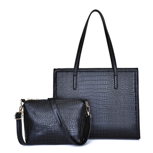 269254278c62 2019 trendy fixed shape top handle bags lady hand bag set 3pcs in 1 New  design
