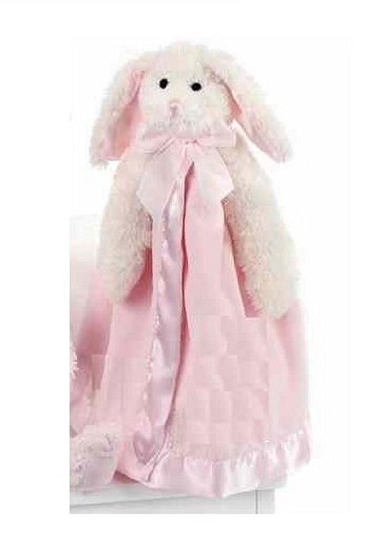 """Bearington Baby Bunny Snuggler, Plush Bunny Rabbit Security Blanket, Lovey 15"""""""
