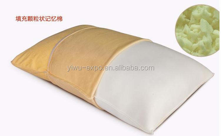 Geraspte memory foam kussen koning originele bamboe hals rug en
