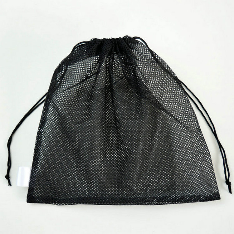 wholesale cheap polyester draw string mesh bag