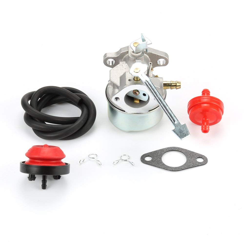 Mckin Carburetor Carb For Tecumseh 640086A 3HP HSK600 HSK635 TH098SA Powerlite CCR With Free Gasket & Primer Bulb & Fuel Filter & Fuel Line
